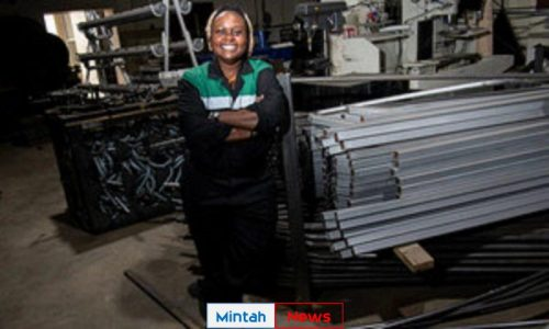 A Kenyan entrepreneur is being lauded by the UN for developing a machine that recycles discarded plastic into paving stones for use in construction projects.